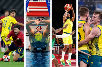 Olyroos outclassed by Spain; stage set for Ledecky and Titmus; Boomers win