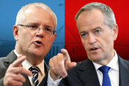 Prime Minister Scott Morrison and former Labor leader Bill Shorten.