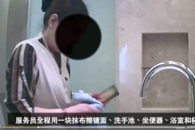 Shocking video exposes luxury hotel cleaners' poor practices