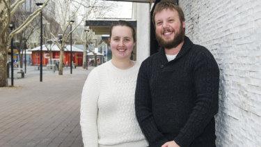 Ben de Vos and Corine Healey of Canberra.