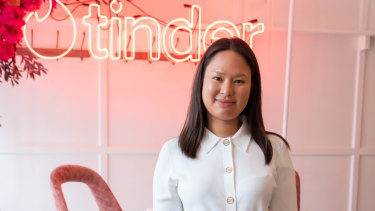 The Daily Edited co-founder Alyce Tran at the Tinder x Vogue Australia Boss Lady Brunch at the Watson's Bay on Wednesday.