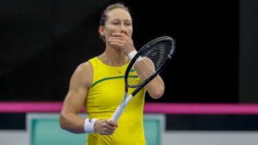 Sam Stosur went down in three sets in Brisbane.