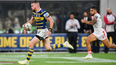 Chasing money: Clint Gutherson signed a three-year deal with Parramatta during the week. But he wanted more.