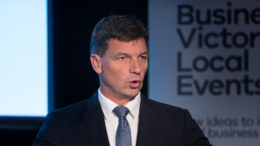 Energy Minister Angus Taylor warned at the National Small Business Summit of a risk of blackouts for businesses.