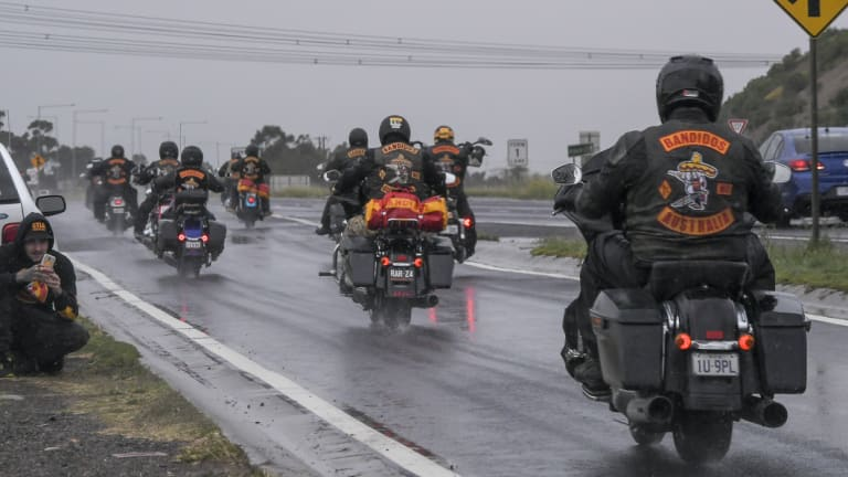 Bandidos bikies set off to Melbourne.