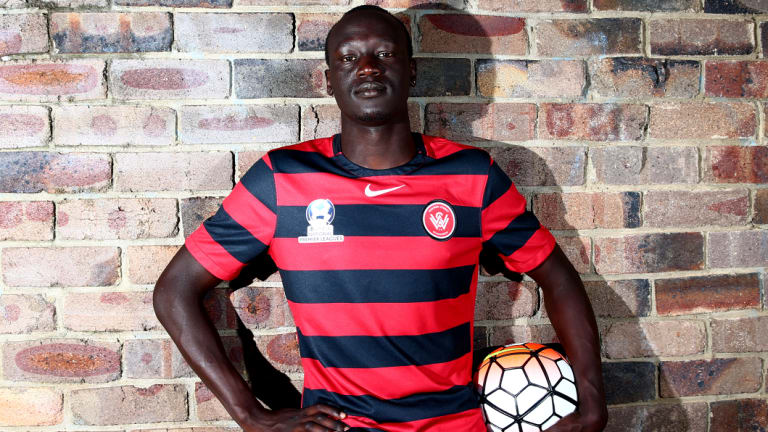 Tireless work ethic: Former refugee Abraham Majok has learned to take nothing in life for granted.