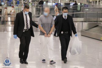 One of the two men, aged 36 and 38, charged over their alleged involvement in importing 2.8 tonnes of ice.