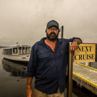 With Mallacoota's abalone industry out of action, all hopes rested on an influx of tourists over Easter. MV Loch-Ard skipper and owner Dale Winward.