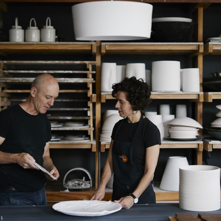 """Potters Colin Hopkins and Ilona Topolcsanyi: """"Following your passion can be a rocky road,"""" says Hopkins."""