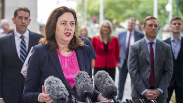 Premier Annastacia Palaszczuk under pressure to release the government's response to report to the Public Sector Commision into the role of Jackie Trad into the recruitment of a school principal. The CCC cleared Ms Trad.