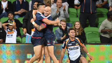 The Rebels have now won four games in a row against the Brumbies.