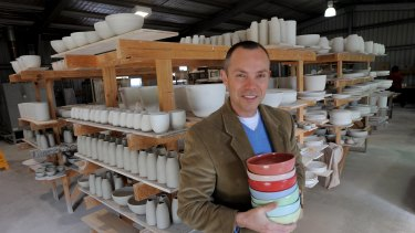 Brian Tunks in 2010, before production was moved off-site.
