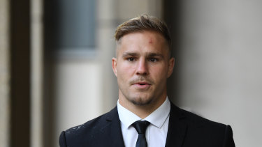 Future at stake: NRL player Jack de Belin.