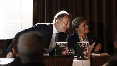 Former prime minister Tony Abbott launched his sister Christine Forster's book Life, Love and Marriage, on Thursday.