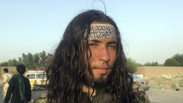A Taliban fighter poses for a picture in the Nangarhar province, east of Kabul, Afghanistan.