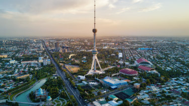 Tashkent TV Tower in the capital.