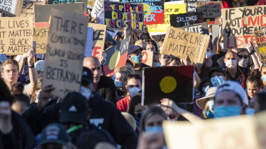 Thousands took to the streets in Brisbane at the weekend in a Black Lives Matter march.