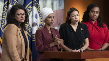 'The Squad': The four congresswomen (L-R) Rashida Tlaib, llhan Omar, Alexandria Ocasio-Cortez, and Ayanna Pressley.