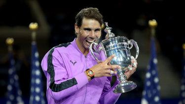 Rafael Nadal has claimed his 19th grand slam trophy.