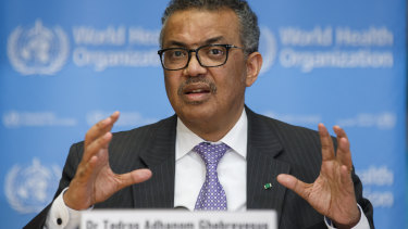 Tedros Adhanom Ghebreyesus, director general of the World Health Organisation.
