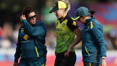 Ellyse Perry following her injury in March.