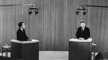 "The first televised US presidential debate, between Richard Nixon and John F. Kennedy, revealed ""cold, mechanistic figures"", according to one watching elder statesman."