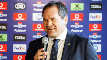 Domino effect? New Wallabies coach Dave Rennie in Sydney in January.