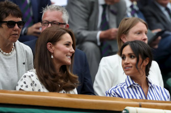 Kate and Meghan, before the royal split.