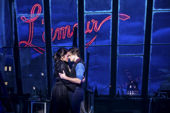 The Moulin Rouge musical on Broadway.