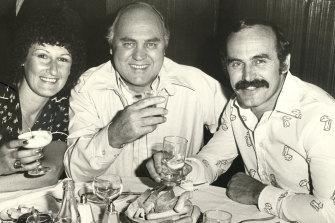 George Harris, former President of Carlton Football Club with former captain coach Alex Jesaulenko in 1979.