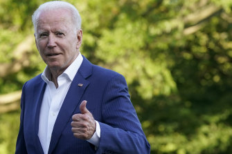 President Joe Biden, pictured at the White House on Sunday, June 27, approved the US air strikes on Iran-backed militias.
