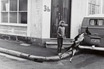 <i>Flying Dog</i> (1973), taken by Jerrems in Sydney's Surry Hills.
