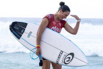 Tyler Wright after winning the Maui Pro at Pipeline on December 20.