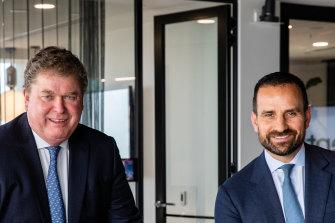 Centuria join chief executives John McBain, left, and Jason Huljich.