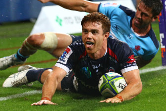 Andrew Kellaway scored two tries for the Rebels.