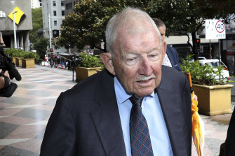 Ron Brierley leaves court last year.