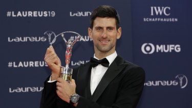 Comeback: Novak Djokovic capped a resurgent 12 months with the sportsman of the year award.