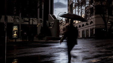 More than 30 millimetres of rain fell in parts of Sydney since Sunday afternoon, with showers set to continue throughout Monday.