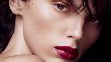 Red lips make a powerful statement.