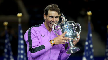 Rafael Nadal has claimed his 19th grand slam trophy.