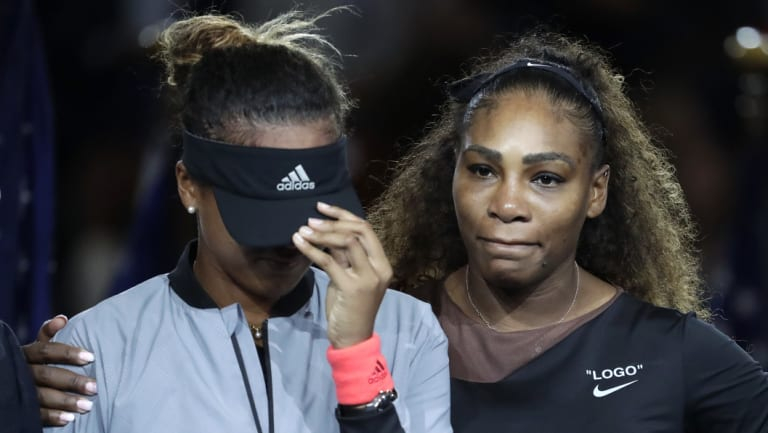 Emotions: Both players fought back tears during the trophy presentation.