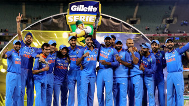 Indian summer: The tourists have dominated in all formats, and joyfully celebrated their one-day series win after victory in the third ODI at the MCG.