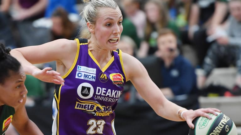 All clear: Boomer Maddie Garrick given the go-ahead to play in Monday's Cup eve clash against Bendigo Spirit.