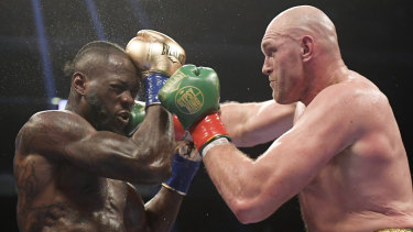 Deontay Wilder (left) fights Tyson Fury.