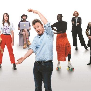 Australia's emerging artists, from left: Angela Goh, Gordi, Christiaan Van Vuuren, Sean O'Beirne, Atong Atem, Anchuli Felicia King, Shanul Sharma, and Ziggy Ramo.