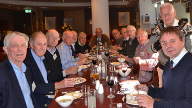 The 481 Boys sit down for lunch, more than 60 years on.