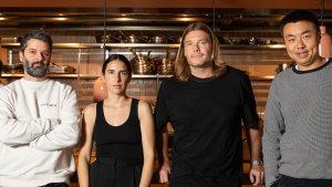 Ben Williamson, Bianca Marchi, Ty Simon and Frank Li inside their newest restaurant venture, Bianca.