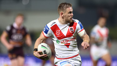 On the move: Matt Dufty was recently told by the Dragons he wasn't going to be re-signed.