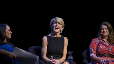 Julie Bishop at the Leading While Female Talk at Opera House on Sunday.