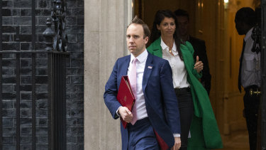 Matt Hancock was pictured leaving Downing Street with Gina Coladangelo on May 1.